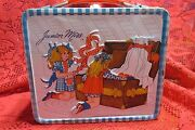 Collectible Vintage 1973 Blue Gingham Junior Miss Metal Lunchbox