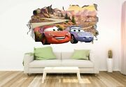 Cars Disney Lightning Mcqueen And Sally Custom Wall Decals 3d Wall Stickers Jo462