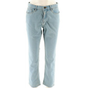 Denim And Co. How Slimming Petite Straight Leg Jeans Bleached Denim - New