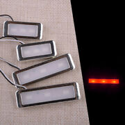 4pc Red Car Door Bowl Handle Led Ambient Atmosphere Lights Interior Accessories