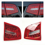 Pair Turn Signal Brake Rear Tail Light Lamp W/ Bulb Fit For Audi A6 S6 Rs6 09-11