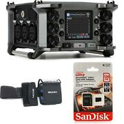 Zoom F6 Multitrack Field Recorder And Case Bundle