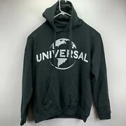 Hybrid Mens Universal Pictures Logo Hoodie Charcoal Gray Xl