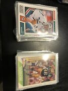 100+ Football Cards Good Condition Classic Players And 3 Jersey Cards.