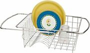 Better Houseware Over The Sink Dish Drainer In Stainless Steel Extendable
