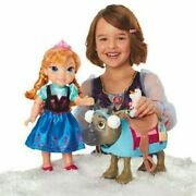 Sale Disney's Frozen Toddler Anna Doll And Sven Olaf Friend Figure Play Set Toy