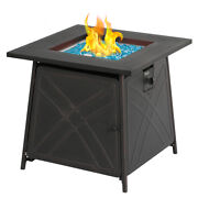 Balioutdoors 28 Gas Fireplace Square Table 50000btu Fire Pit Home Garden Table