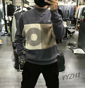 Hot Mens Loose Fit Printed Casual Sport Sweater 95 Cotton Plus Velvet Warm Chic