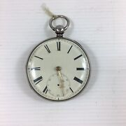 Antique 1856 Solid Silver Cased George Wilson Penrith Pocket Watch Not Working