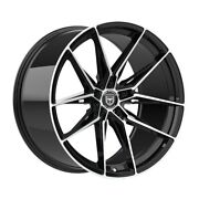4 Hp1 22 Inch Staggered Black Rims Fit Ford Mustang Ecoboost I4 2016