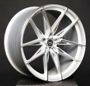 4 Gwg Hp1 22 Inch Staggered Silver Rims Fits 5x120 Et15 Cb74.1