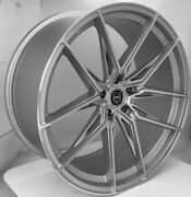 4 Hp1 22 Inch Staggered Silver Rims Fits Dodge Charger Srt8 2006 - 2014