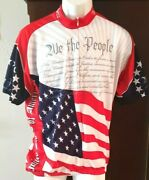 World Jerseys U.s. Constitution We The People Cycling Bike Jersey Menand039s Sz Xl