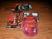 2 Pc Games Rome Total War And Rome Total War Barbarian Invasion Cd-rom Games