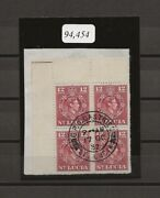 St Lucia 1949-50 Sg 153a Used Block Cat £2200 . Cert .