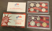 2005-s Us United States Mint Silver Proof Set - 11 Coins W/ Box And Coa Ms11