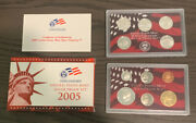 2005-s Us United States Mint Silver Proof Set - 11 Coins W/ Box And Coa Ms10