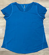 Lucy Activewear Ss Workout Tee In Imperial Blue 1x Nwot From Lucy Store Sold Out