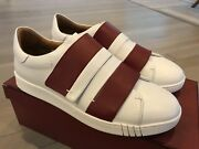 550 Bally Willet White And Red Leather Sneakers Size Us 9.5 Made In Italy
