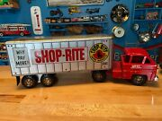 Louis Marx Usa 195oand039s-60and039s Shop-rite Steel Tractor And Trailer Very Solid Shape