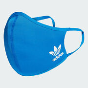 Same Day Shipping 1 Blue- Adidas Face Mask Cover Size M/l Large Usa Seller