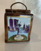 Limoges Atelier Twin Towers New York City Tote Purse Trinket Box