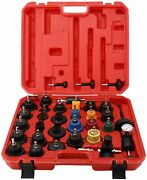 33pc Radiator Pressure Tester Test Kit Coolant Vacuum Purge Refill With Adapters