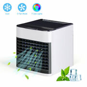 Personal Air Desktop Evaporative Fan Humidifier With 3 Modes And 7 Colors Light