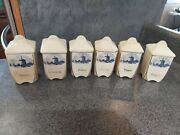 Vintage Spice Containers With Windmills