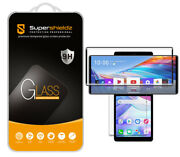 Tempered Glass Screen Protector 2x Glass Main+ 2x Pet Dual For Lg Wing Black