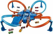 Hot Wheels Dtn42 Criss Cross Crash Playset With One Die-cast Car