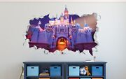 Disney Castle Wall Decals Stickers Mural Home Decor For Bedroom Art Ls261