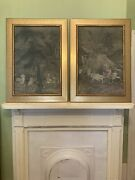 Large Framed Antique Chinoiserie Prints