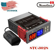 Stc-3028 Dual Led Temperature Humidity Controller Ac110-220v Digital Thermostat