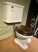 1920s Antique Toilet Wall Mounted Standard Tiffin