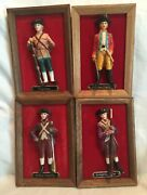 Collectible Vintage Royal Sealy Framed 3-d Minutemen Soldiers Red Velvet Backs