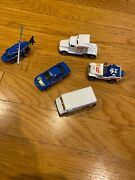 """Hot Wheels """"action News"""" 5 Piece Set -jeep, Car, Van, Semi- Truck, And Helicopter"""