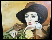 Liza Minnelli Signed 16x20 One Of A Kind Hand Painted Canvas Jsa Authenticated