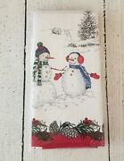 Williams Sonoma Snowman Napkins Set Of 4 Christmas Holidays - New With Tags