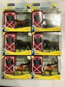 Lot Of 6 - Breyer Foal Surprise Horse Box Toy