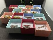 Vintage Fashion Costume Gemstones Jewelry Rings Lot Sizes 9.5-11