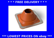 Roof Flashing Red Chimney Pipe Rain Water Weather Seal Flue Wood Burner Stove