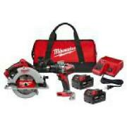 M18 18-volt Lithium-ion Brushless Cordless Hammer Drill And Circular Saw Combo