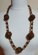 Christian Dior Signed Crystal Bead Necklace Sputnik,1960 Year,very Rare
