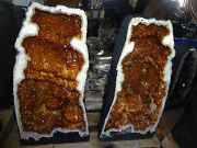 Monster 195 Lb Brazilian Citrine Crystal Cathedral Cluster Geode One Half Only