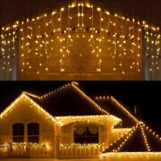 Us Warm 13-130ft Led Christmas Fairy Icicle Curtain Lights Wedding Party Outdoor