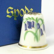 Collectable Fine Bone China Thimble Bluebell Flower Of The Year 1987 By Spode