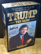 Trump The Game 1989 Donald J. Trump Signed Milton Bradley Art Of The Deal