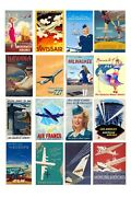 125 G Scale Model Vintage Airline Travel Posters