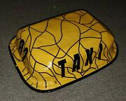 Rare Vintage Yellow Taxi Car Topper Sign 82 Very Unusual Cab Toppper